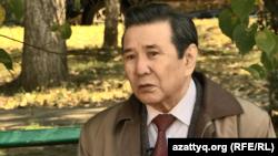 Историк Кайдар Алдажуманов. Скриншот сюжета Азаттыка. Алматы, 6 октября 2016 года.