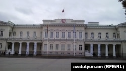 Lithuania - The presidential palace in Vilnius, 7Oct2013.