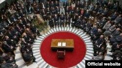 Ceremonia e nënshkrimit të Kushtetutës së Kosovës.
