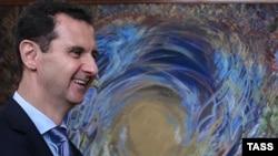 Сирия. Башар Асад перед встречей с российскими парламентариями. Дамаск,12.04.2016