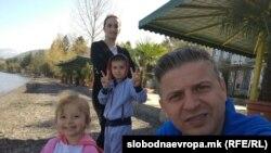 Семејство Реџепи на летување во Охрид