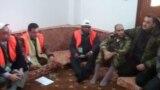 مراقبون من الجامعة في مدينة حمص