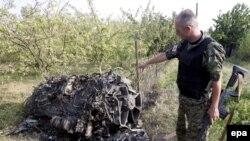 2008 წლის 9 აგვისტოს სოფელ ძევერასთან ჩამოგდებული რუსეთის სამხედრო თვითმფინავის ნამსხვრევები