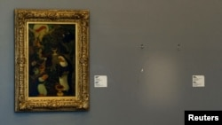 В музее Кунстхал на месте, где раньше висела картина Анри Матисса, сейчас пусто. Роттердам, 16 октября 2012 года.