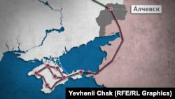 Связь с материковыми магистралями Украины