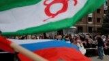 Протесты против передаче земель Чечне продолжались почти месяц