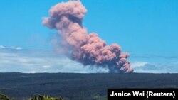 Vullkani aktiv në Havaji.