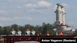 Будівництво «Північного потоку-2» в російському місті Кінгісепп