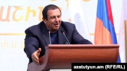 Armenia - Gagik Tsarukian holds a campaign rally in Kapan, 21 March 2017