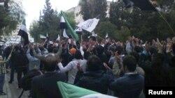 Антиправительственная демонстрация в Хомсе 6 декабря