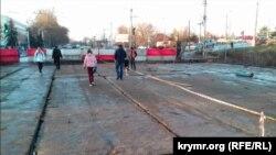 Ремонт на вулиці Гагаріна в Сімферополі, архівне фото