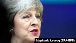 Premierul britanic Theresa May la summitul liderilor europeni din 21 martie