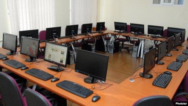 Armenia - A computer class in Yerevan.