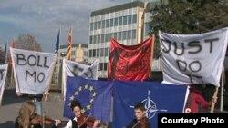 """Protesta e Lëvizjes qytetare """"Zgjohu"""", para Qeverisë së Maqedonisë"""