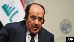 Iraqi Prime Minister Nuri al-Maliki speaking in Washington D.C. on October 31.