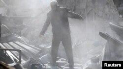 Vazduši udar u predgrađu Damaska
