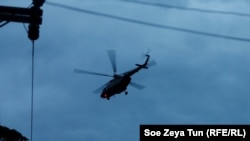 Вертолет со спасенными детьми отправляется в центр провинции Чианграй.