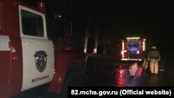 Пожар в поселке Кировское, 12 января 2017 год