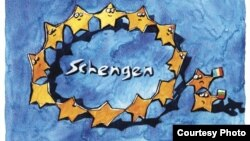 "Bulgaria -- Schengen cartoon from ""Novinar"", Jan2011"