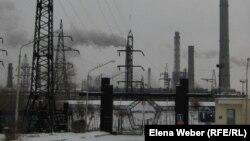 Центральныe ворота металлургического комбината АО «АрселорМиттал Темиртау».