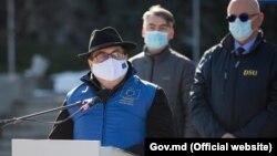 Ambasadorul UE la Chișinău, Peter Michalko, la ceremonia de oferire R. Moldova a ajutoarelor pentru combaterea pandemiei COVID-19