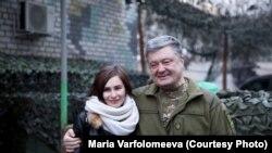 Марія Варфоломеєва і Петро Порошенко очікують звільнення полонених
