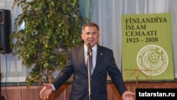 Встреча татар Финляндии с президентом Татарстана Рустамом Миннихановым в Хельсинки в декабре 2018 года