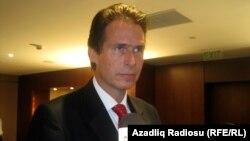 Глава директората ЕС по России, Восточному партнерству, Центральной Азии, региональному сотрудничеству и ОБСЕ Гуннар Виеганд, Баку, 23 сентября 2011