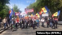 Protest antiguvernamental al Platformei DA la Chișinău