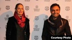 ابوالفضل صفاری همراه با مهناز افشار در جشنواره فیلم روتردام.