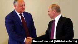 Întrevederea Igor Dodon-Vladimir Putin la Soci, în cadrul ședinței Consiliului Economic Eurasiatic Suprem