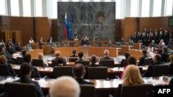 Slovenački parlament, Ljubljana, arhivska fotografija