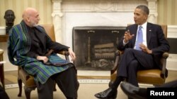 Barack Obama i Hamid Karzai, Washington