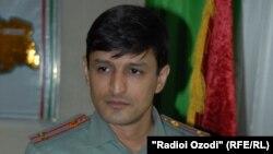 Пресс-секретарь министерства обороны Таджикистана Фаридун Мамадалиев.