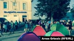 Палатки мигрантов в хорватском городе Товарник, 19 сентября 2015 года.