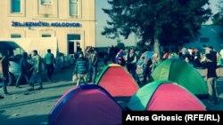 Товарник қаласындағы мигранттар. Хорватия, 19 қыркүйек 2015 жыл.