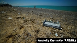 Пляж, Сакский район, архивное фото
