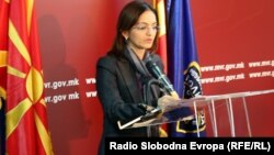 Mинистерката за внатрешни работи Гордана Јанкулоска.