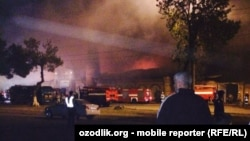 A mosque in Tashkent burned to ashes