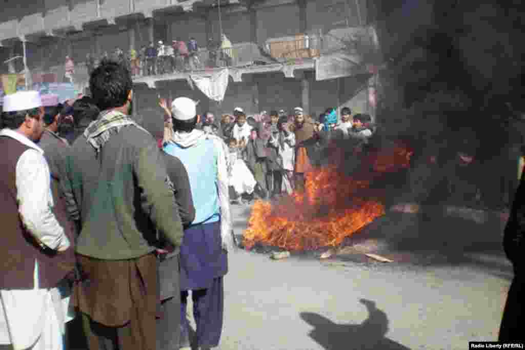 A demonstration in Jalalabad on February 22.