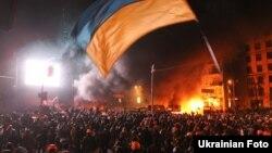 Протистояння на вулиці Грушевського у Києві. 20 січня 2014 року