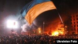 Під час протистояння на вулиці Грушевського, 19 січня 2014 року
