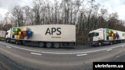 Черга з російських вантажівок до пункту пропуску «Ужгород», ілюстративне фото