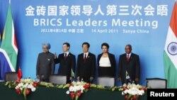 Liderii ţărilor BRICS la summitul din 14 aprilie 2011