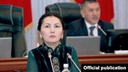 Аида Салянова в парламенте. 17 апреля 2014 года.