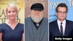 J.K. Rowling, George R. R. Martin, John Green.