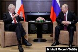 Милош Земан и Владимир Путин в Сочи. 21 ноября