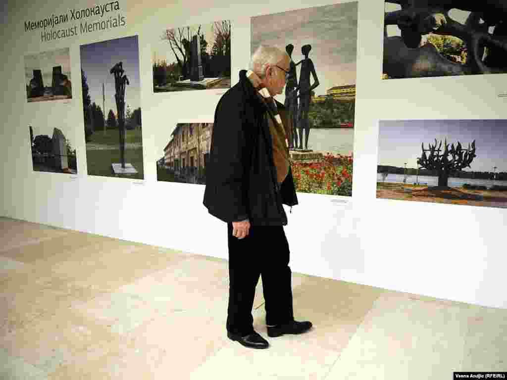 نمایشگاه یادبود قربانیان هولوکاست در صربستان در بهمن ماه ۹۰