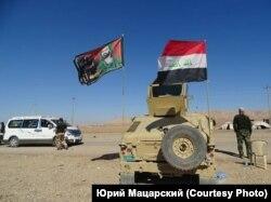 Машина шиитского отряда вблизи Мосула
