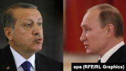 Turkish President Recep Tayyip Erdogan (left) and Russian President Vladimir Putin